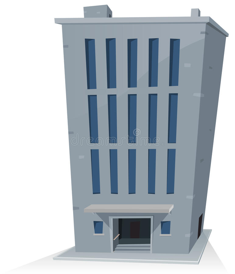Cartoon Office Building royalty free illustration