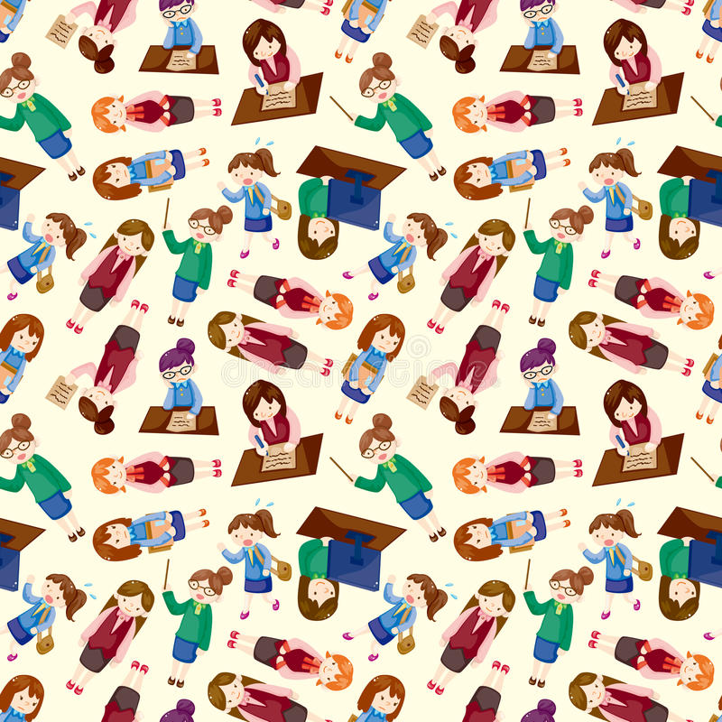 Download Cartoon Office Woman Worker Seamless Pattern Royalty Free Stock Image - Image: 21965456