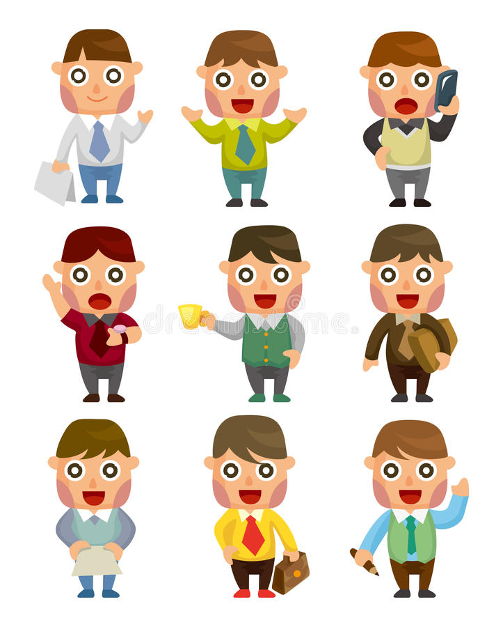 Download Cartoon office worker stock vector. Image of draw, icon - 21937941