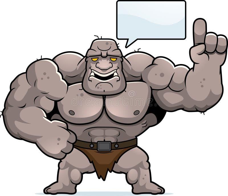 Cartoon Ogre Talking royalty free illustration