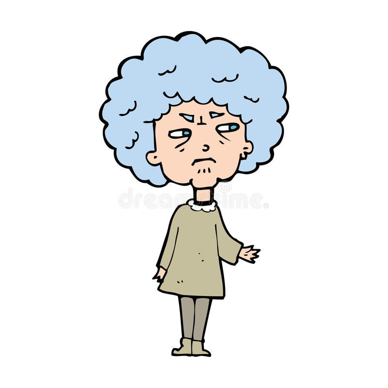 cartoon old lady stock vector illustration of woman 37019680 rh dreamstime com old lady cartoon pictures funny old lady cartoon character