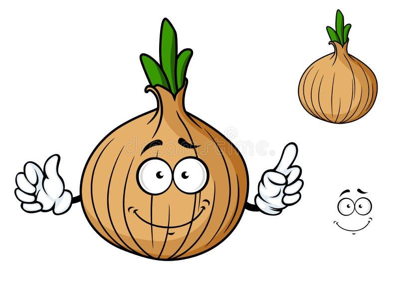 Cartoon onion vegetable character vector illustration