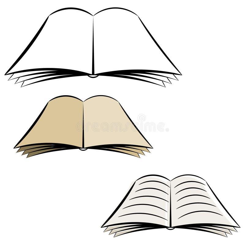 Cartoon open book. royalty free stock photography