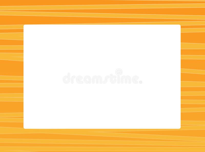 Cartoon orange frame for different usage with space for text royalty free illustration