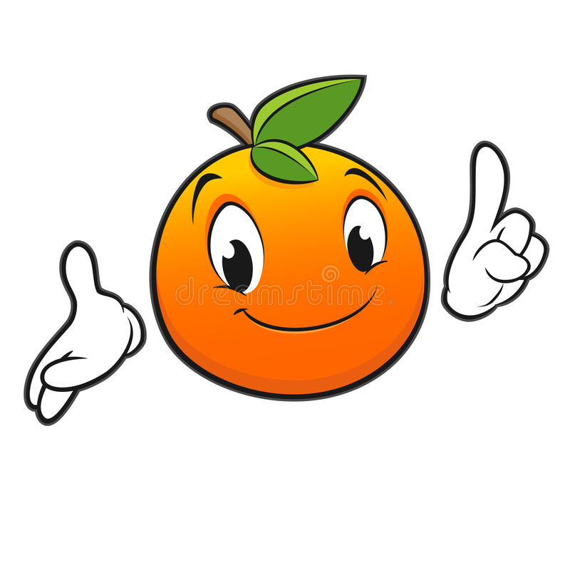 Cartoon Orange royalty free illustration