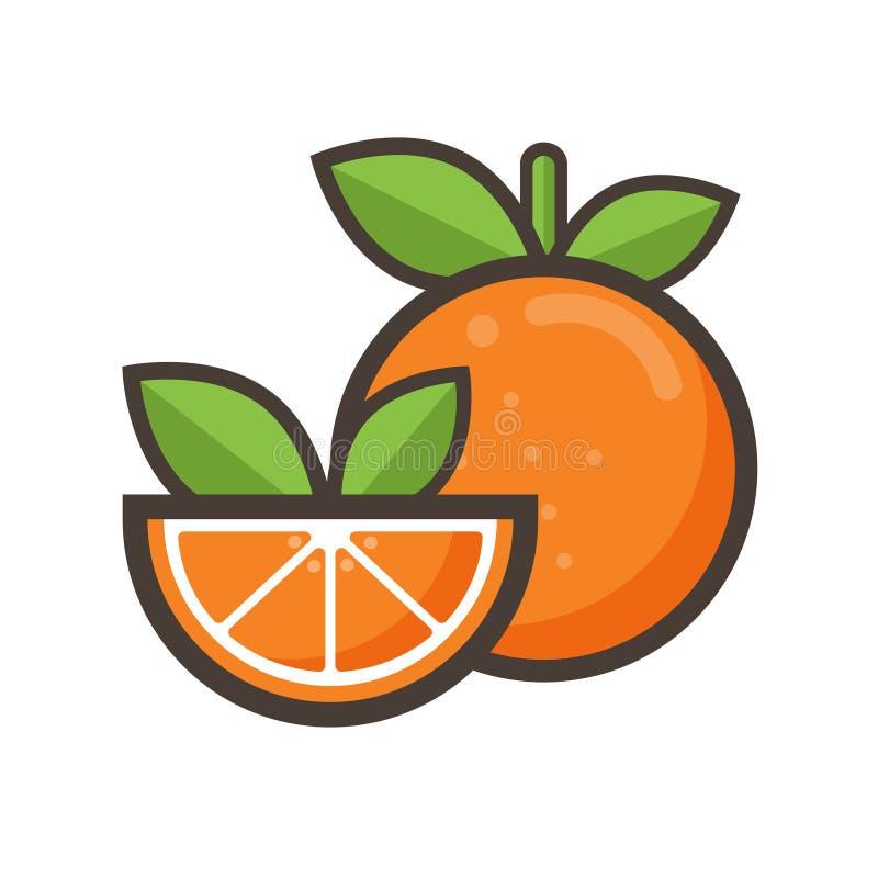 Cartoon orange stock photography