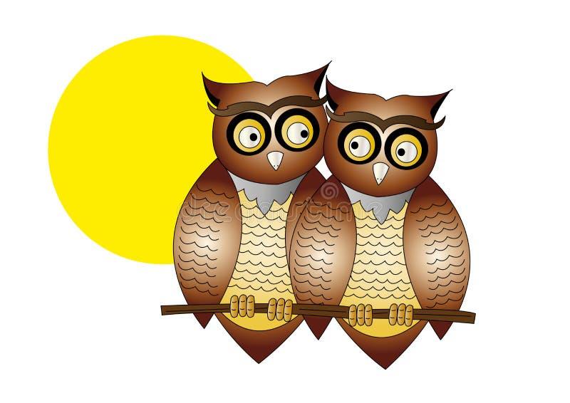 Download Cartoon Owls stock vector. Illustration of birds, digital - 32509839