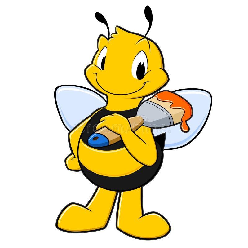 Cartoon Painter Bee stock illustration