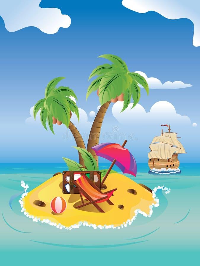 Cartoon Palm Island stock vector. Illustration of icon ...