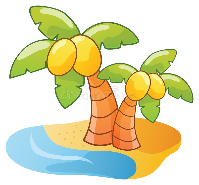 Download Cartoon palm tree stock vector. Illustration of summer - 5740941
