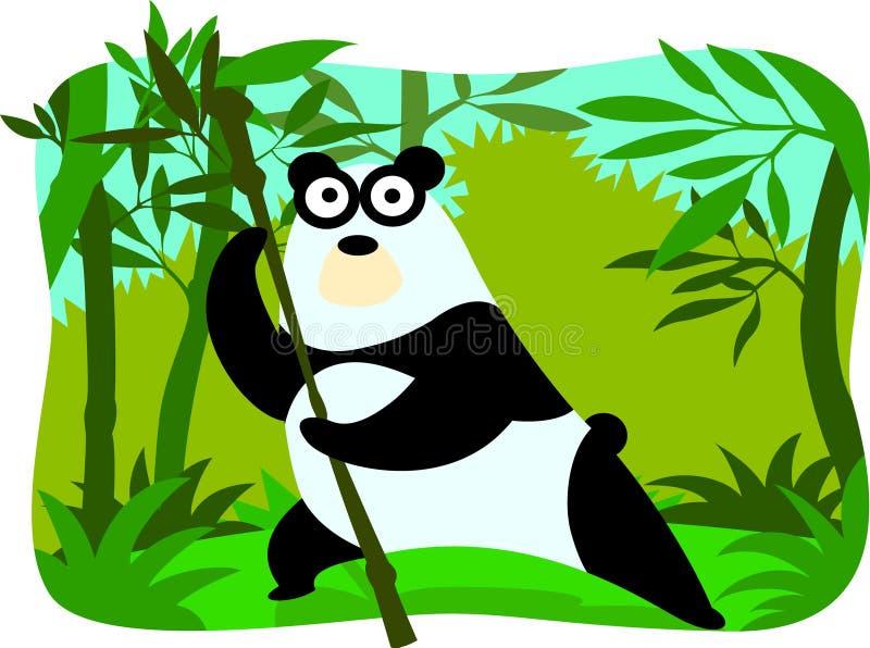 Cartoon panda royalty free stock image