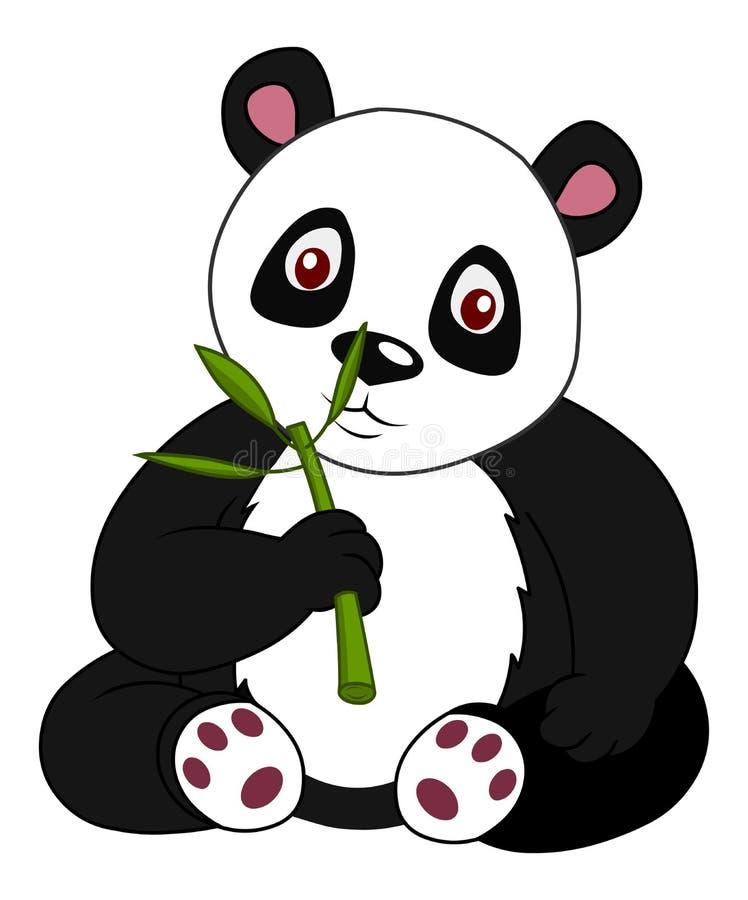 Free Cartoon Panda Eating Leaf Stock Image - 215643401