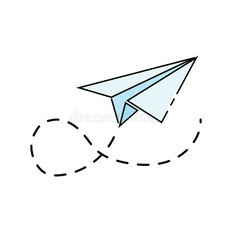 Paper Airplane Cartoon Stock Illustrations 4 153 Paper Airplane