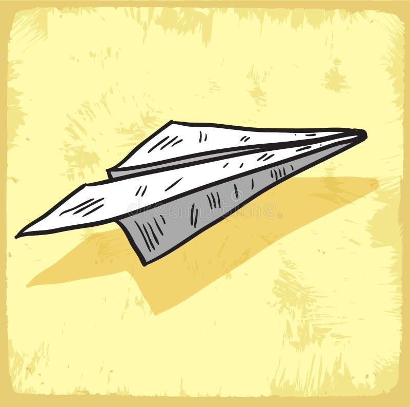 Cartoon paper plane illustration , vector icon. vector illustration