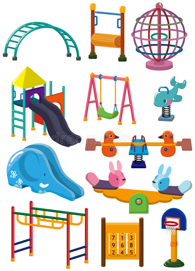 Download Cartoon Park Playground Icon Stock Vector - Illustration: 18044592