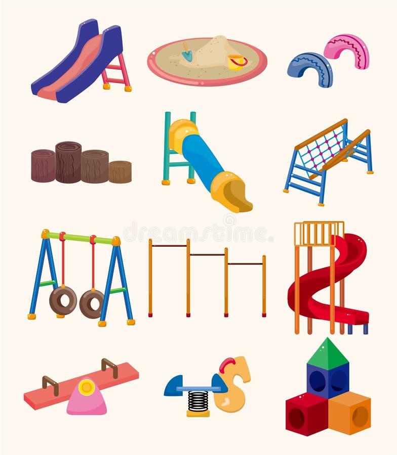 Cartoon park playground icon royalty free illustration
