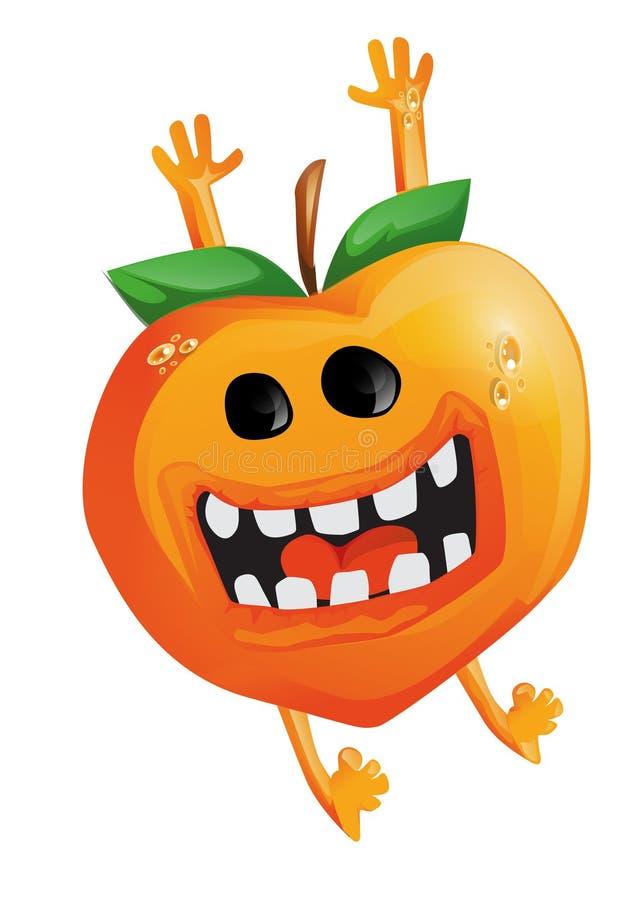 Cartoon Peach Stock Image