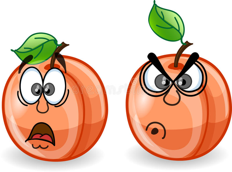 Download Cartoon Peaches With Emotions,vector Stock Vector - Illustration: 23280084