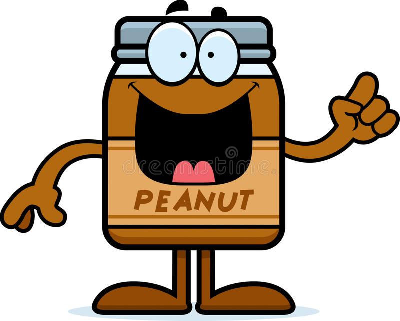 Cartoon Peanut Butter Idea royalty free illustration