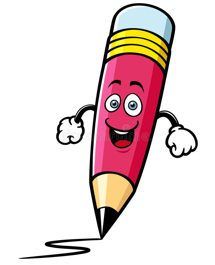 Cartoon pencil royalty free illustration