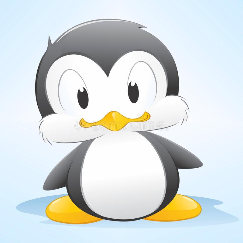 Cartoon Penguin. Vector illustration of a cute cartoon penguin. Grouped and layered for easy editing vector illustration