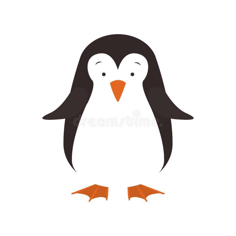 Cartoon penguin icon. Cute cartoon penguin winter animal over white background. vector illustration vector illustration