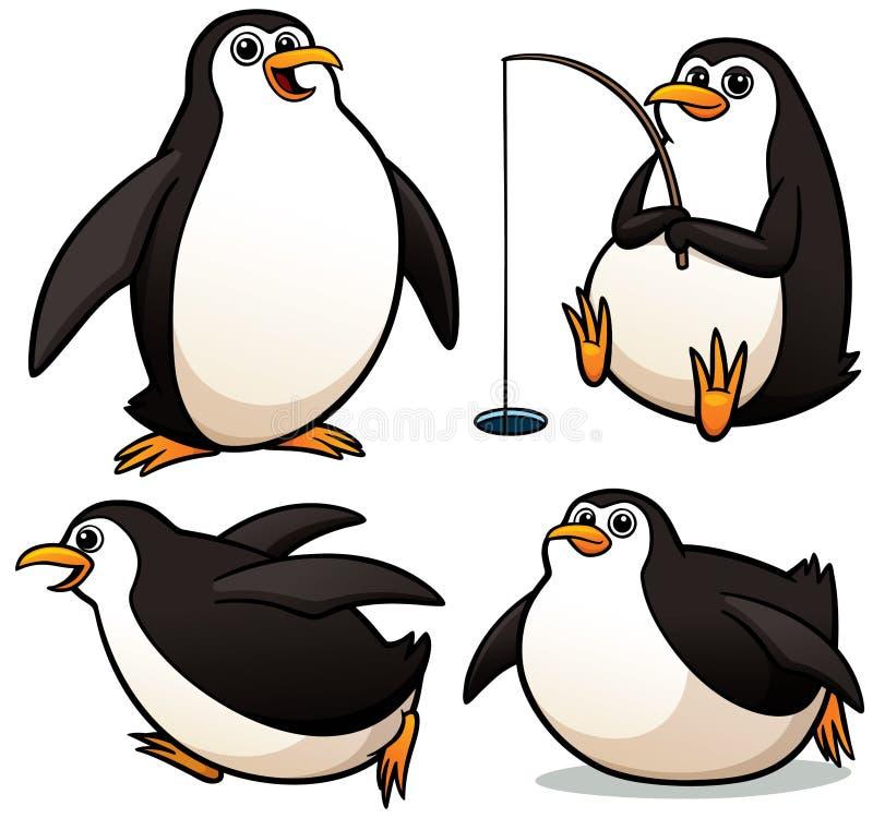 Cartoon Penguin. Vector illustration of Cartoon Penguin Character Set stock illustration