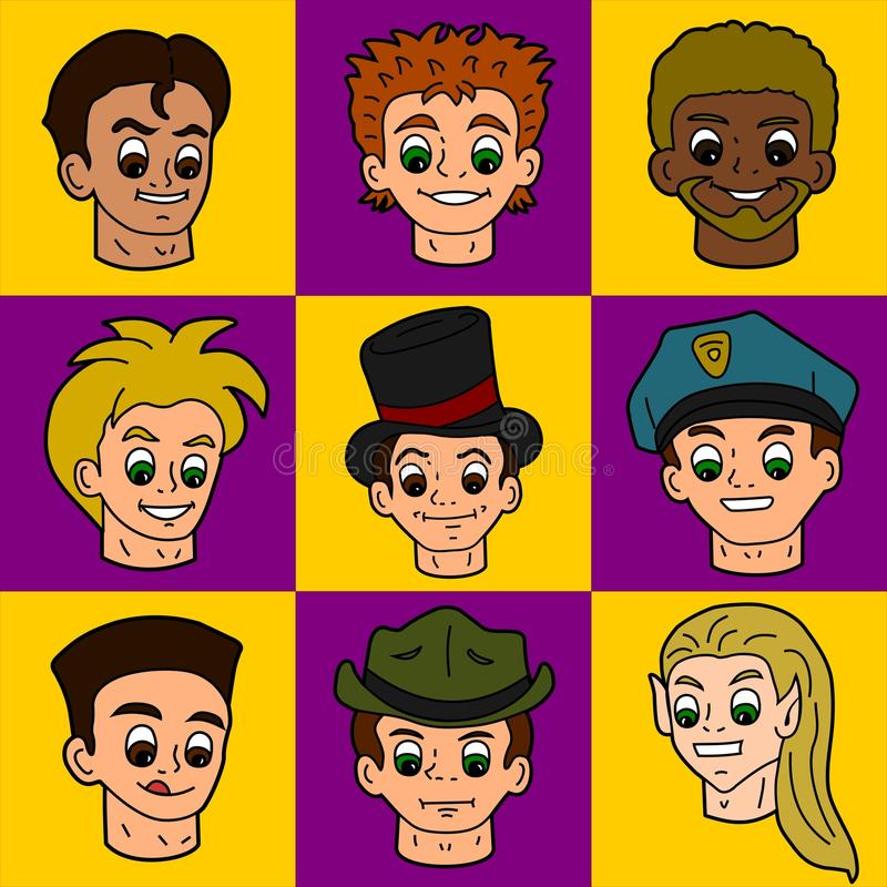 Download Cartoon people faces stock vector. Illustration of boys - 13077055