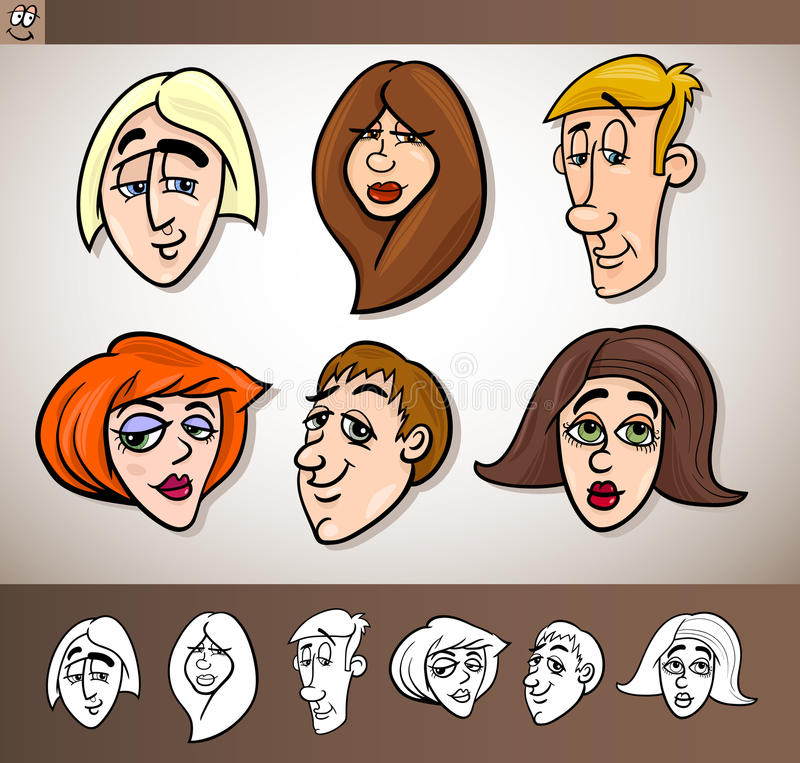 Download Cartoon People Heads Set Illustration Stock Image - Image: 28919551