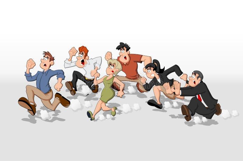 cartoon people running stock vector illustration of adult 22470774 rh dreamstime com cartoon people running away Outline of Cartoon People Running