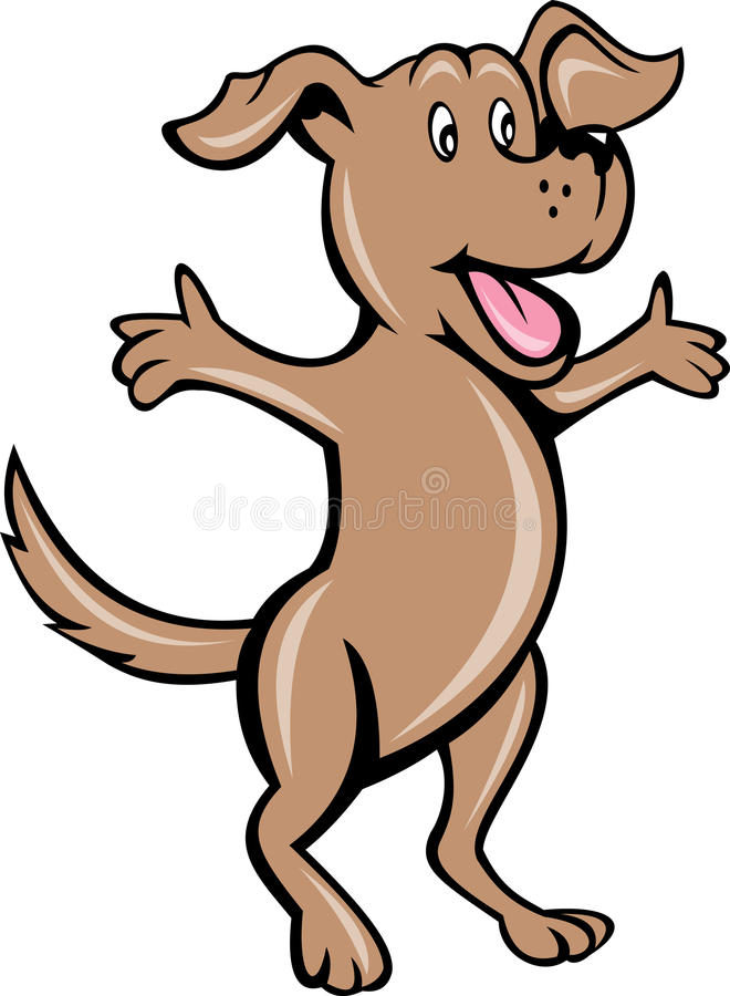 Download Cartoon pet puppy dog stock illustration. Illustration of arms - 17526965