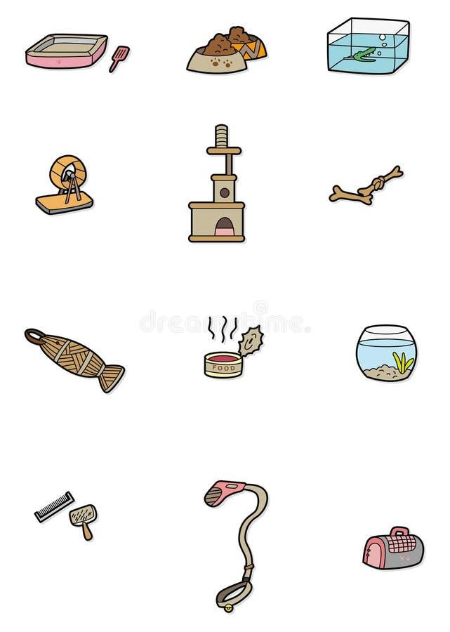 Cartoon Pet Tool Icon Stock Photo