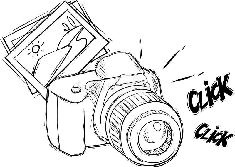 Cartoon photo camera vector illustration