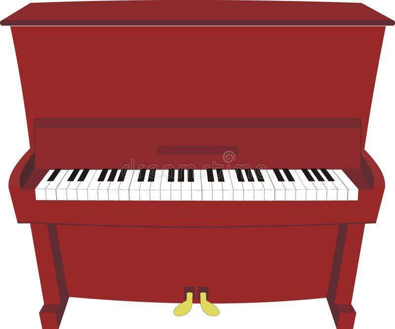 Download Cartoon piano stock vector. Image of illustration, performance - 13664134