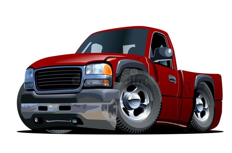 Cartoon pickup stock vector vector illustration