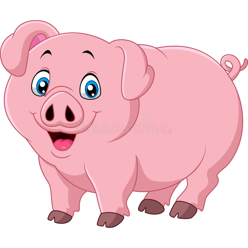 cartoon pig on white background stock vector cute pig clip art png cute pig clip art for girl