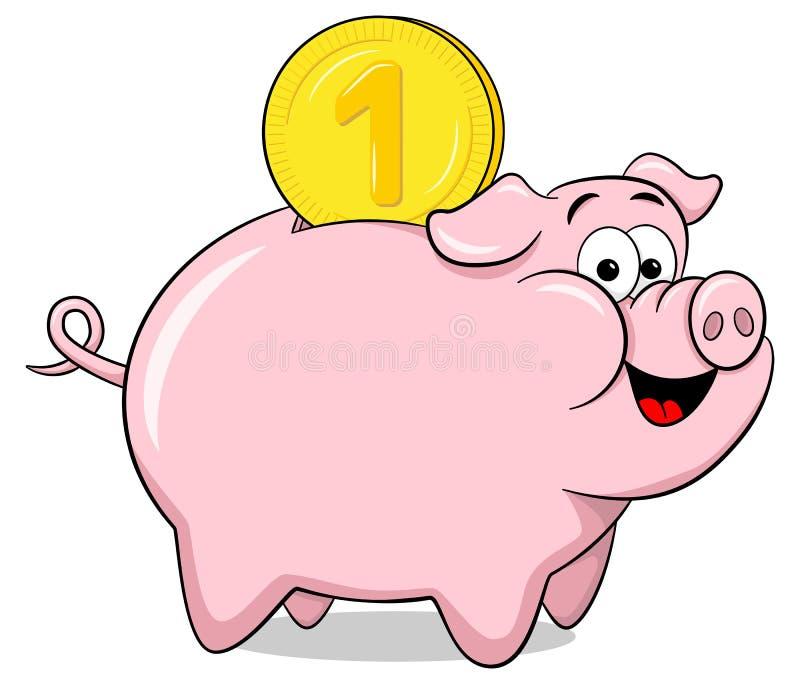 Cartoon Piggy Bank Stock Vector. Illustration Of Comic ...