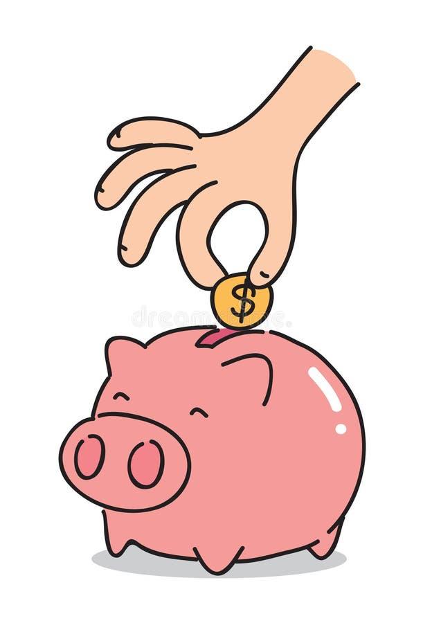 Cartoon Piggy Bank, Vector Stock Vector. Illustration Of ...