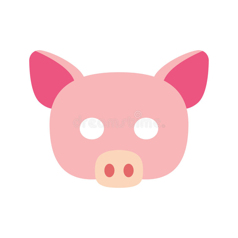 Cartoon piggy mask vector royalty free illustration
