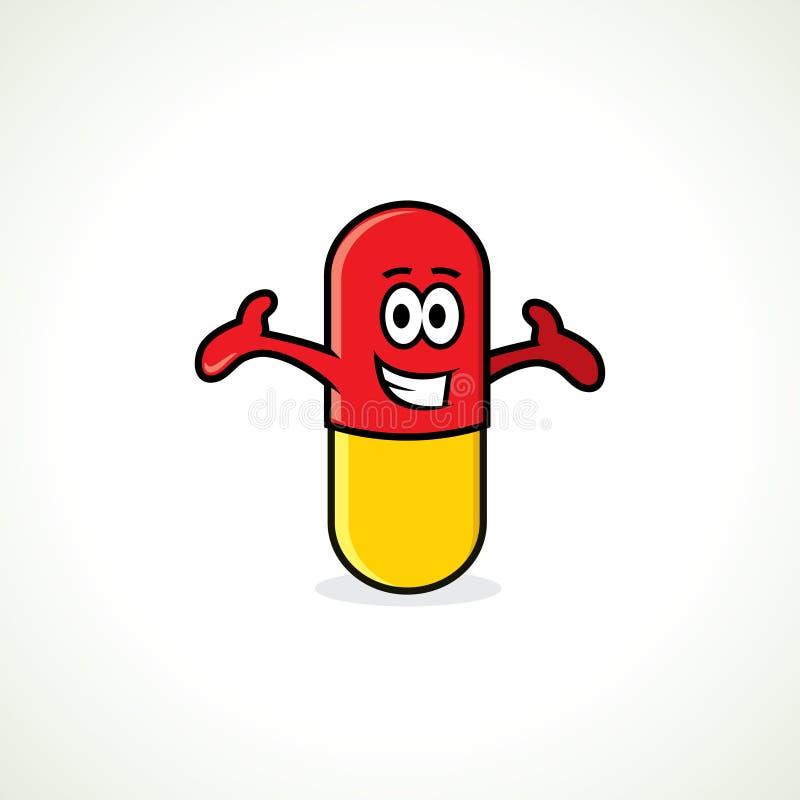 Cartoon pill vector illustration