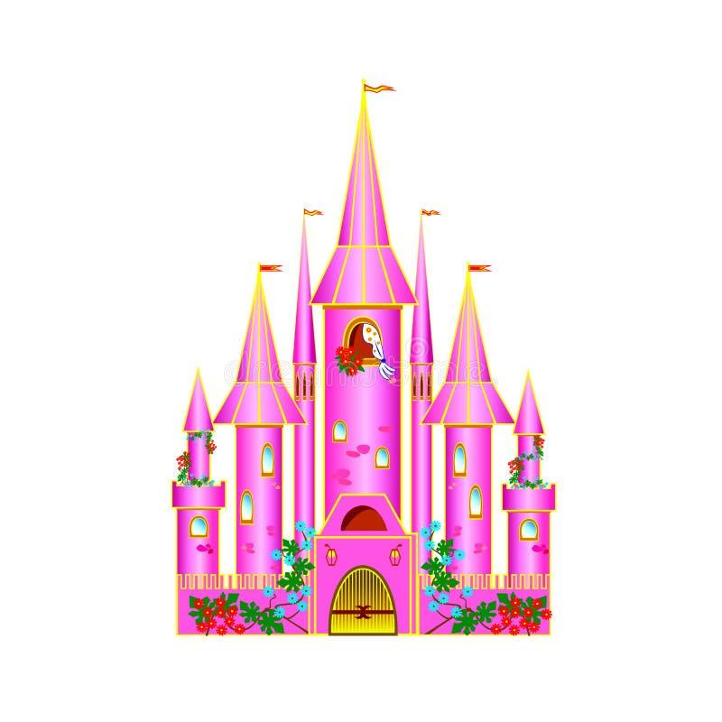 Free Cartoon Pink Castle Royalty Free Stock Photos - 25843198