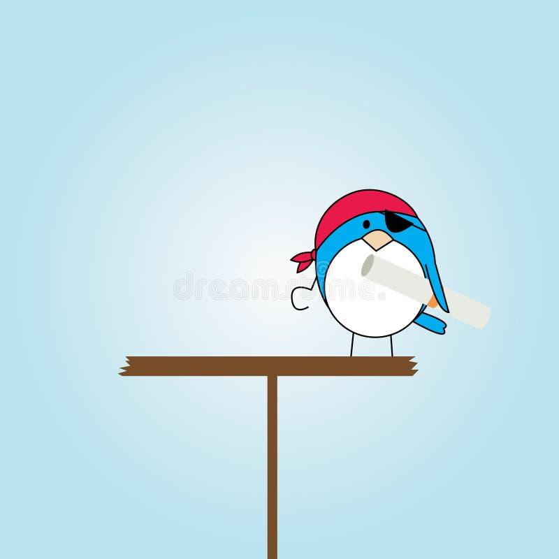 Download Cartoon Pirate Bird On Platform Royalty Free Stock Photos - Image: 14799568