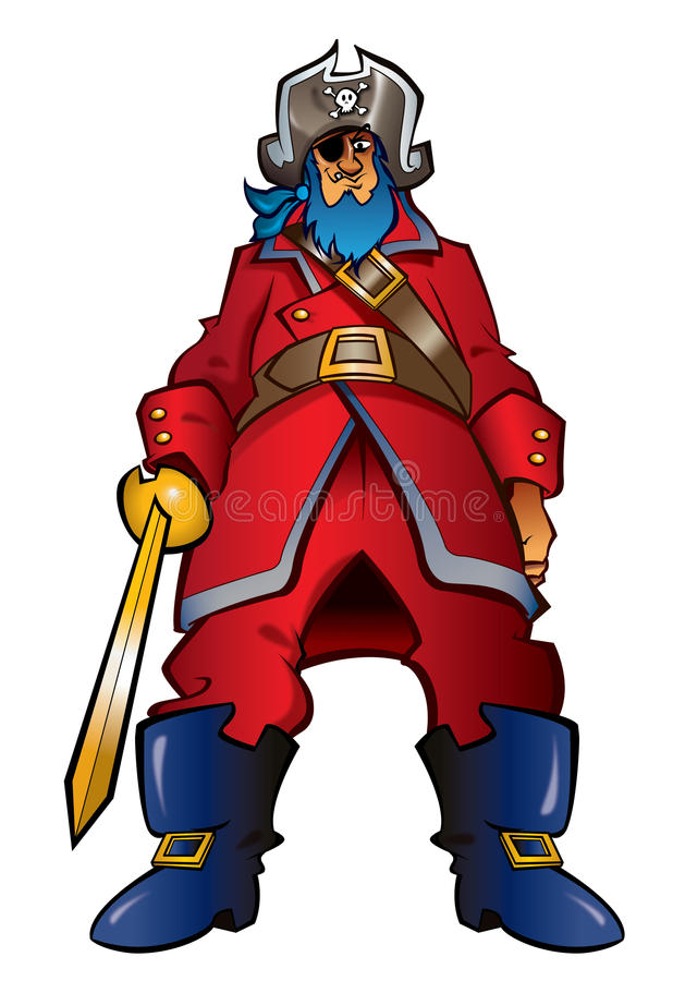 Download Cartoon Pirate Captain Royalty Free Stock Photo - Image: 23809345