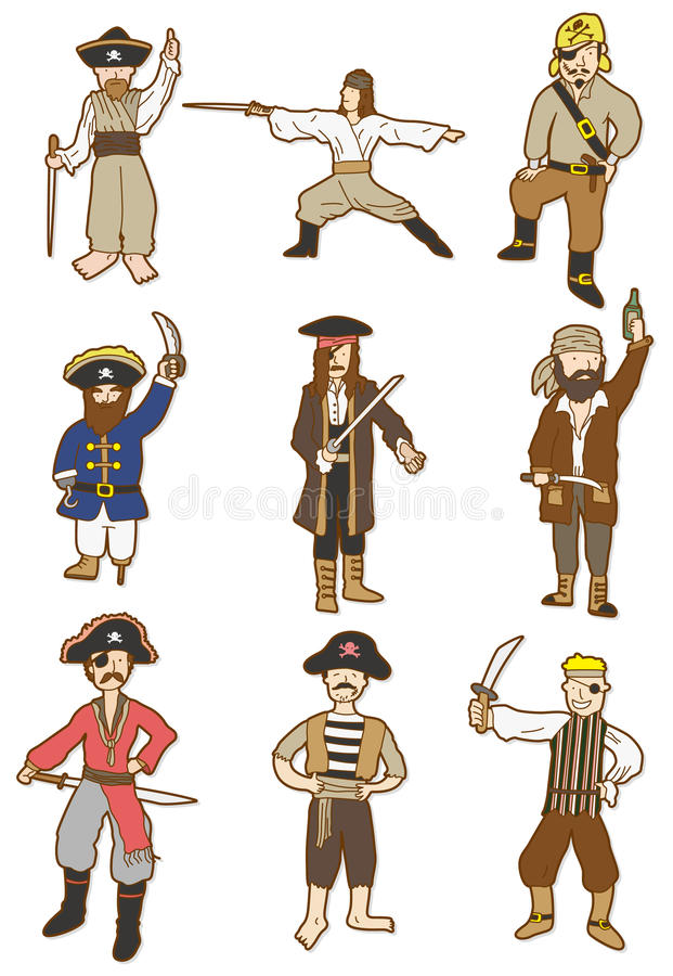 Download Cartoon Pirate icon stock vector. Illustration of filibuster - 17884069