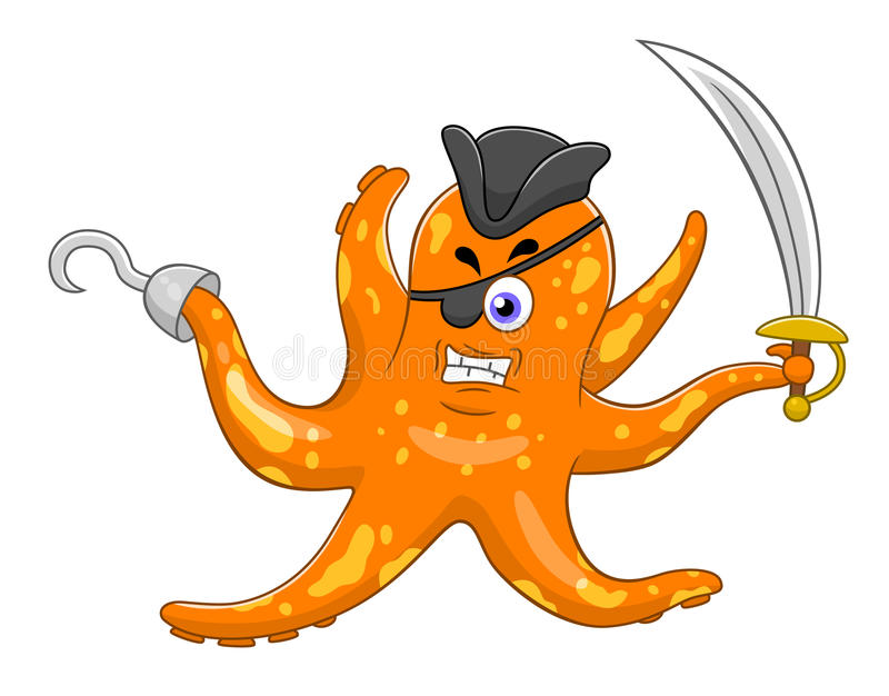 cartoon pirate octopus stock vector illustration of cute octopus clipart free image 5 octopus clipart free image 5