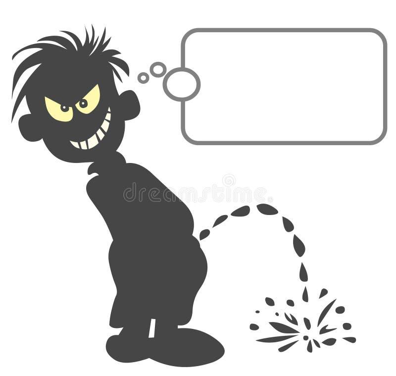 Cartoon Silhouette. stock illustration