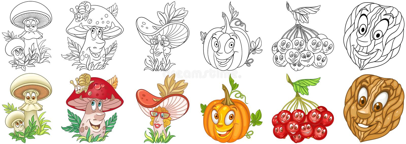 Cartoon Plants set stock photos