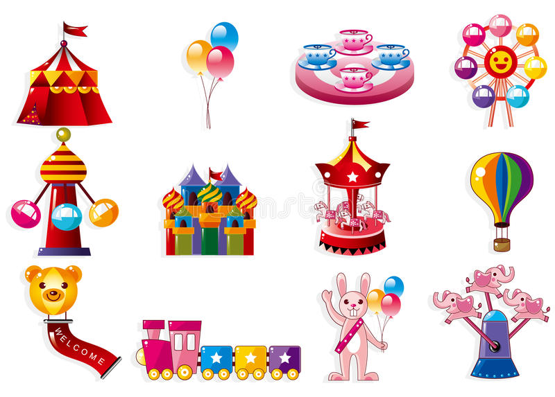 Cartoon Playground icon stock illustration