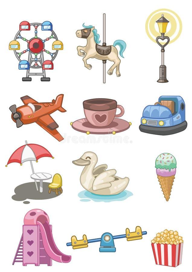 Free Cartoon Playground Icon Stock Photography - 17635762