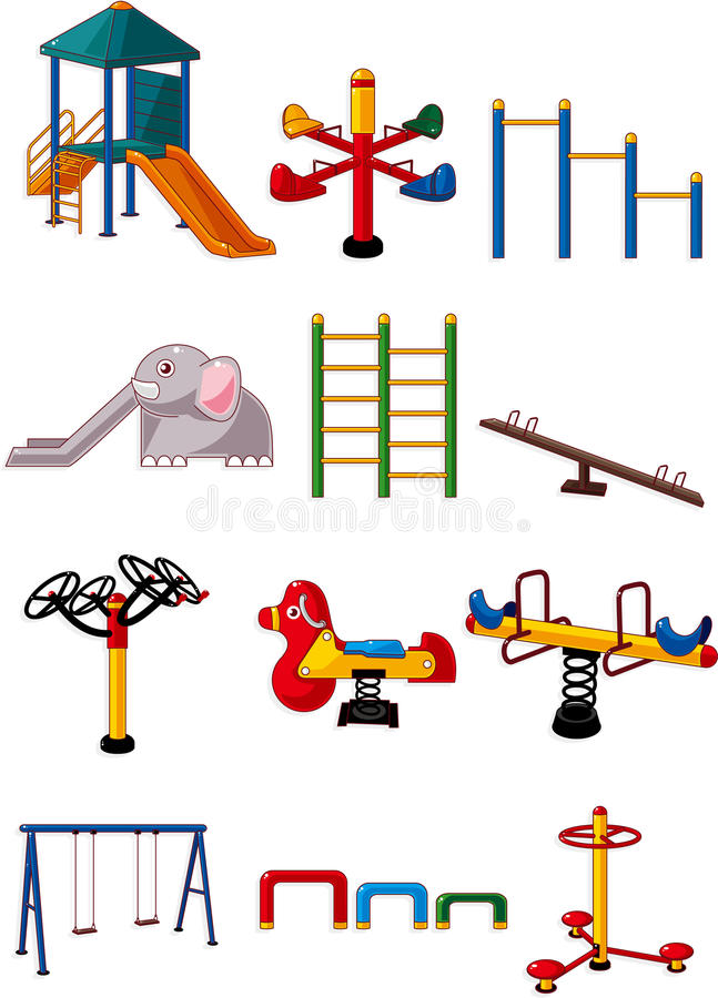 Cartoon playground icon royalty free illustration